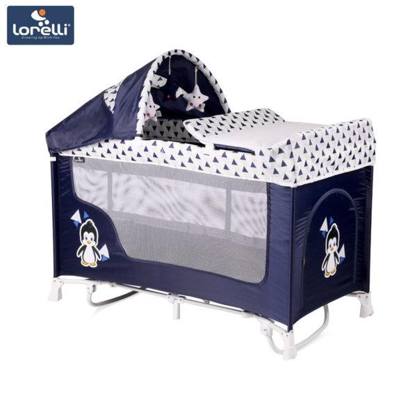Lorelli Кошара SAN REMO 2 Нивa + Rocker BLUE&WHITE PENGUIN 10080091936