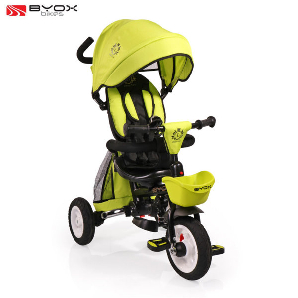 Byox Bikes Детска триколка с родителски контрол FLEXY LUX Зелена 106542