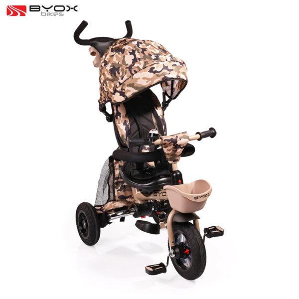 Byox Bikes Детска триколка с родителски контрол FLEXY LUX Камуфлаж 106543