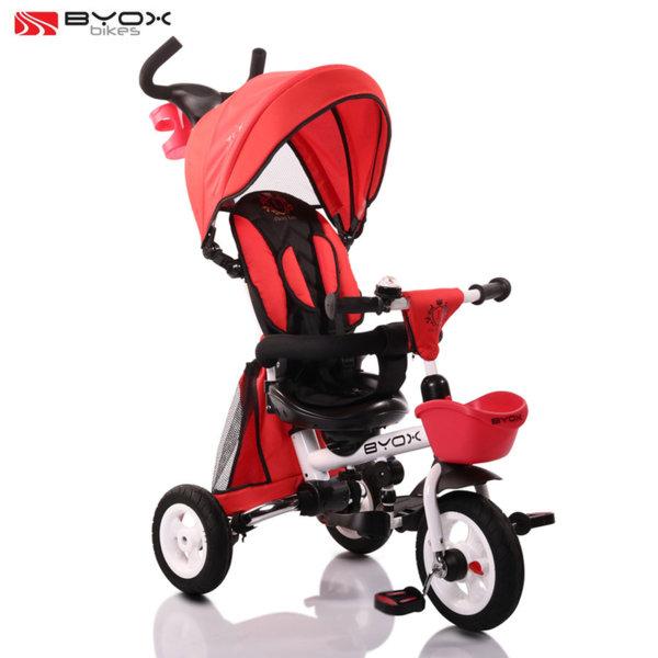 Byox Bikes Детска триколка с родителски контрол FLEXY LUX Червена 106545
