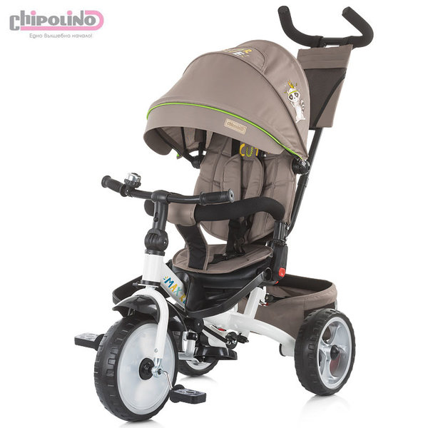 Chipolino Триколка със сенник и родителски контрол MAX RELAX трюфел