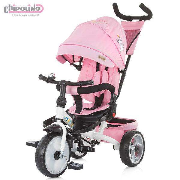 Chipolino Триколка със сенник и родителски контрол MAX RELAX розова