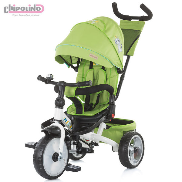 Chipolino Триколка със сенник и родителски контрол MAX RELAX зелена