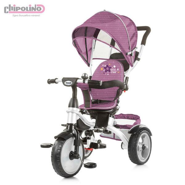 Chipolino Триколка със сенник и родителски контрол Рапидо розова TRKRA0192RO
