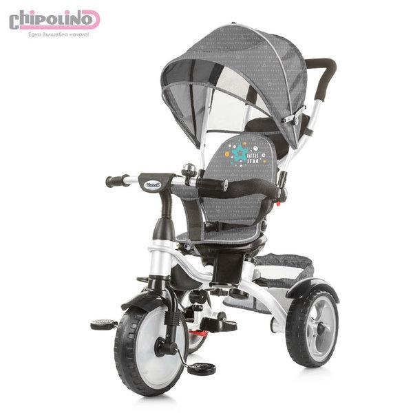 Chipolino Триколка със сенник и родителски контрол Рапидо пепел TRKRA0193AS