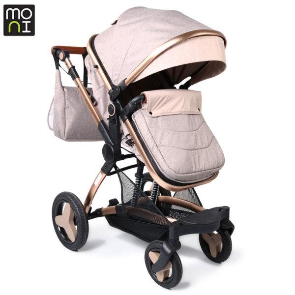 Moni Комбинирана детска количка Veyron бежова 106859