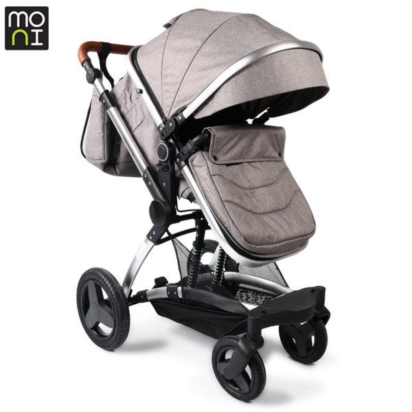 Moni Комбинирана детска количка Veyron светло сива 106861