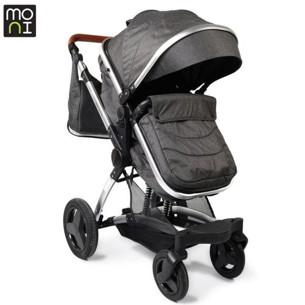Moni Комбинирана детска количка Veyron тъмно сива 106862