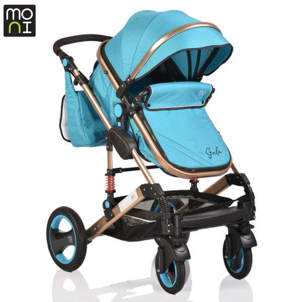 Moni Комбинирана детска количка Gala тюркоаз 106271