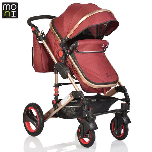 Moni Комбинирана детска количка Gala червена 106272