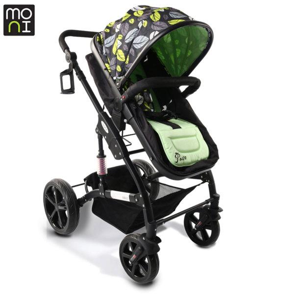 Moni Комбинирана детска количка Pavo зелена 106784