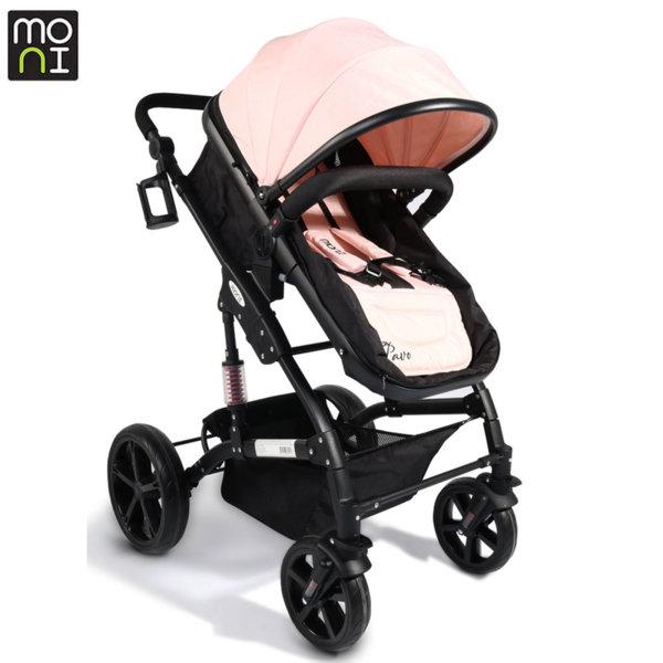 Moni Комбинирана детска количка Pavo перла 106785