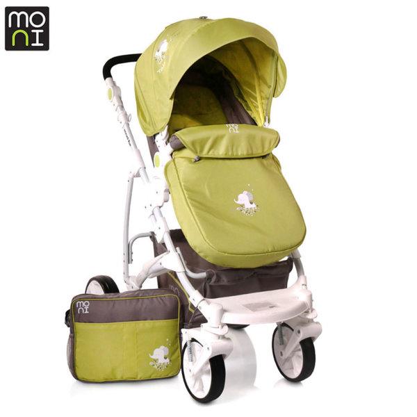Moni Комбинирана детска количка Tala зелена 106433