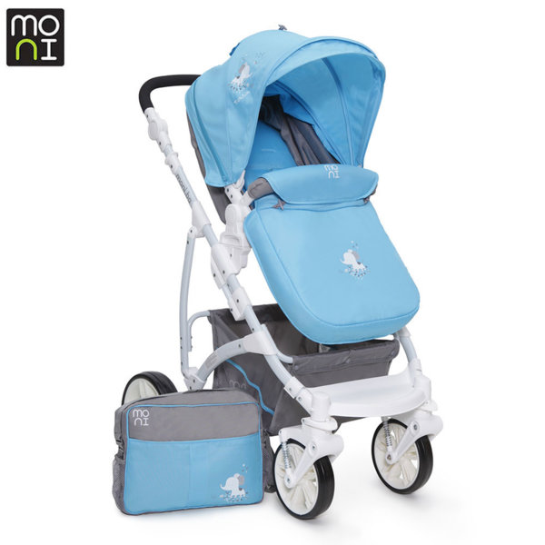 Moni Комбинирана детска количка Tala синя 103283
