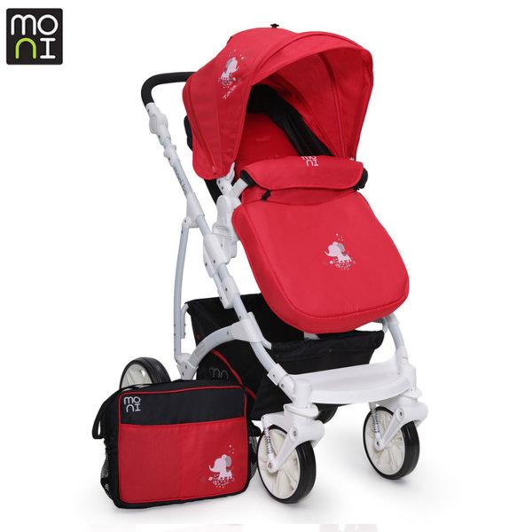 Moni Комбинирана детска количка Tala червена 103284