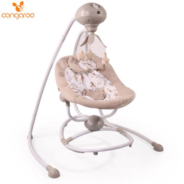 Cangaroo Бебешка електрическа люлка Woodsy бежова 106593