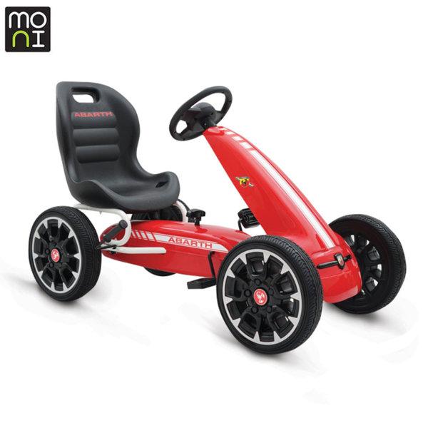 Moni Детска картинг кола Abarth 500 Assetto corse червена 106418