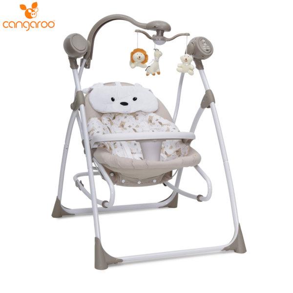 Cangaroo Бебешка електрическа люлка Swing Star бежова 103577