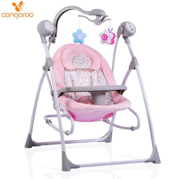 Cangaroo Бебешка електрическа люлка Swing Star розова 103578
