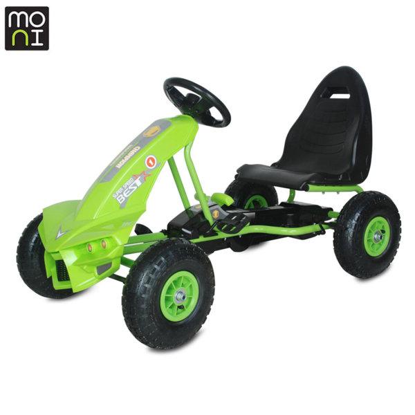 Moni Детска картинг кола Best зелена 106275