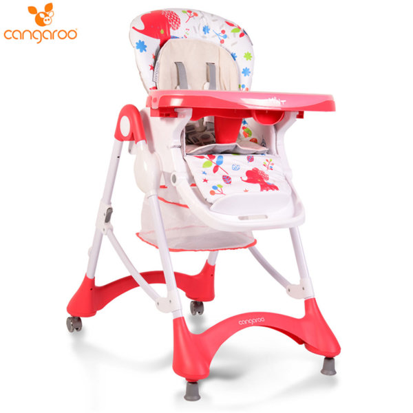 Cangaroo Детски стол за хранене Mint червен 106026