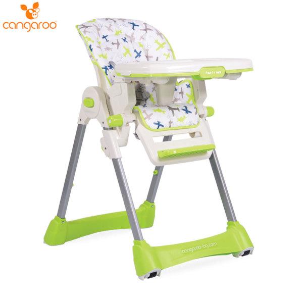 Cangaroo Детски стол за хранене Party Mix зелен 104116