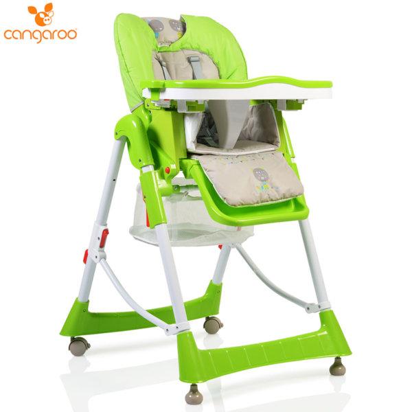Cangaroo Детски стол за хранене Bon Appetit зелен 104268