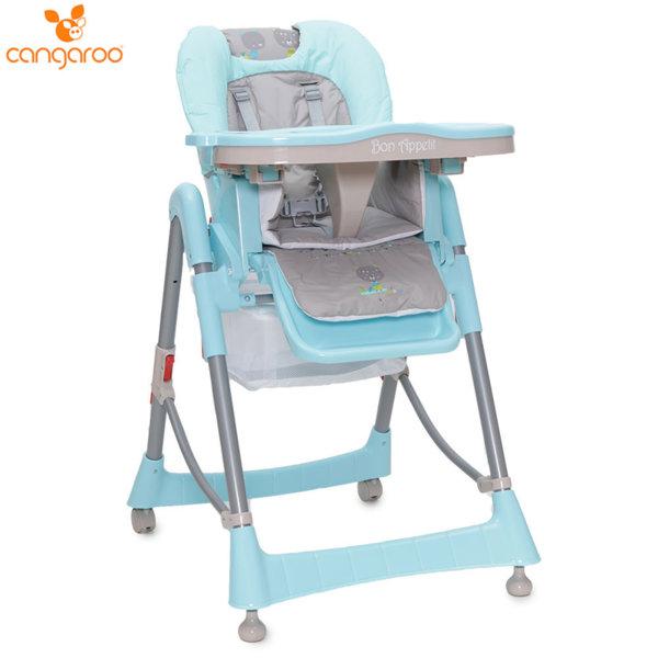 Cangaroo Детски стол за хранене Bon Appetit син 103687