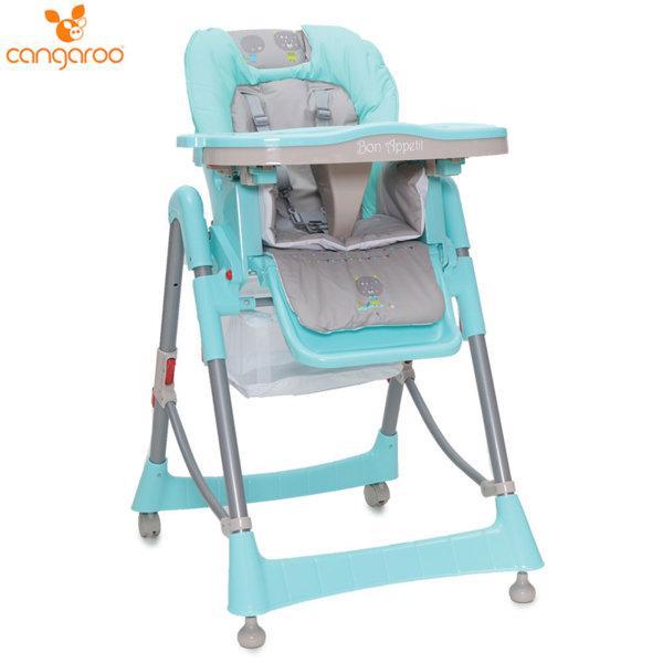 Cangaroo Детски стол за хранене Bon Appetit тюркоаз 103688