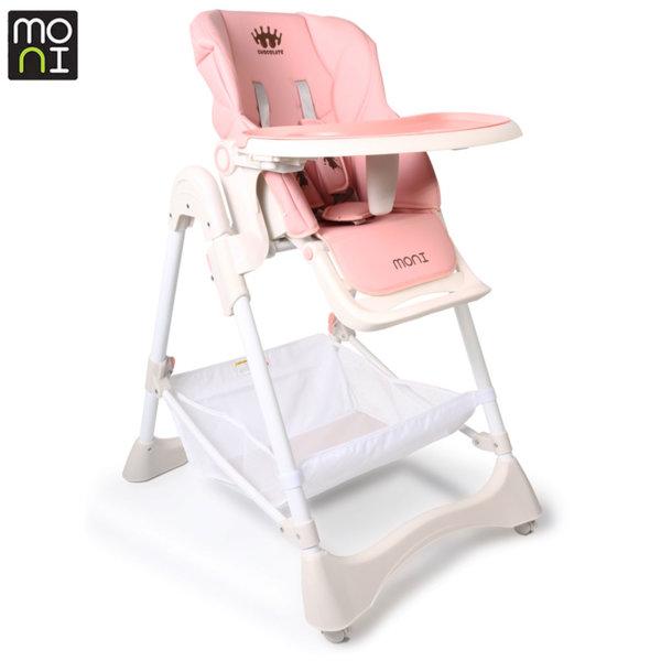 Moni Детски стол за хранене Chocolate розов 106869