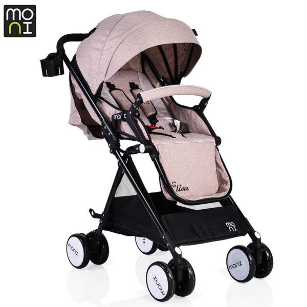 Moni Детска лятна количка Elisa бежова 104369