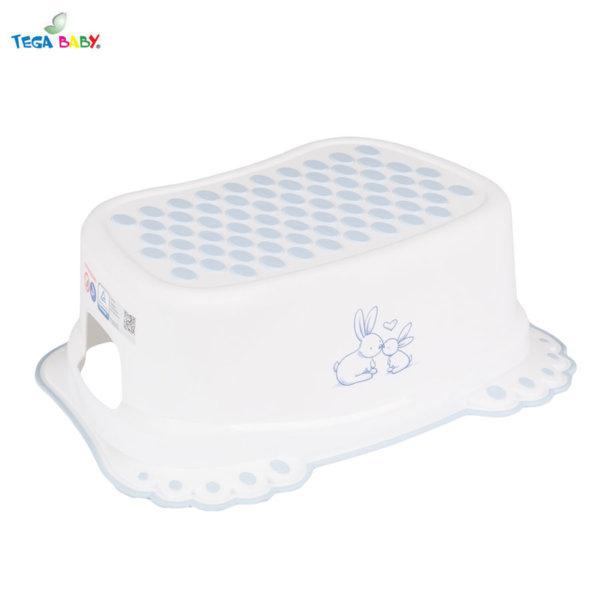 Tega Baby Стъпало за баня Зайчета бяло