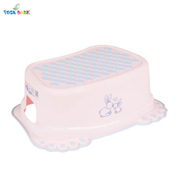 Tega Baby Стъпало за баня Зайчета розово