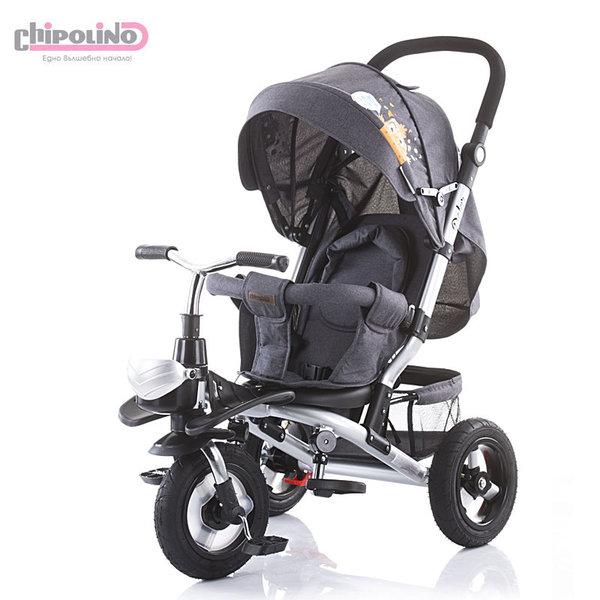 Chipolino Триколка със сенник, родителски контрол, помпащи гуми Полар гранит TRKPO0192GG