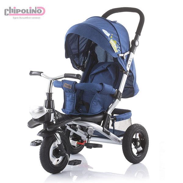 Chipolino Триколка със сенник, родителски контрол, помпащи гуми Полар марин TRKPO0194MB
