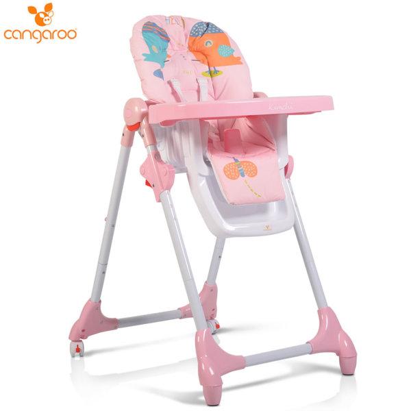 Cangaroo Детски стол за хранене Kimchi розов 106265