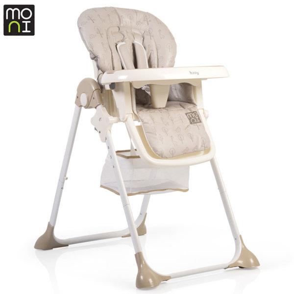 Moni Детски стол за хранене Hunny бежов 106244