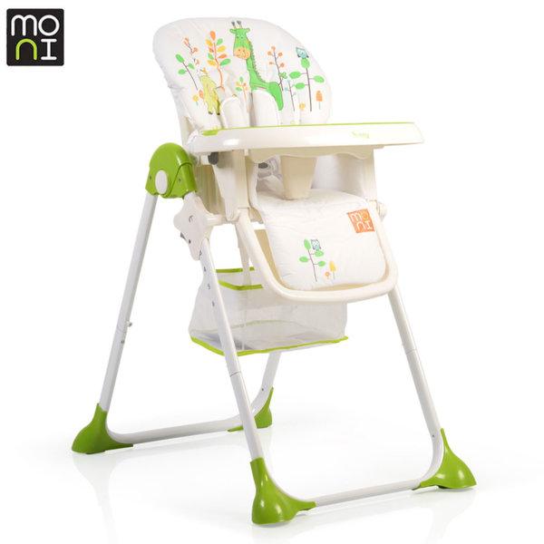 Moni Детски стол за хранене Hunny зелен 106245