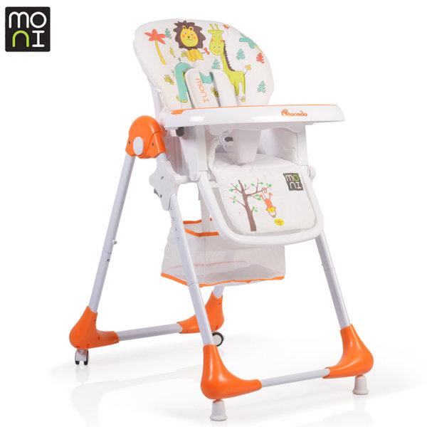 Moni Детски стол за хранене Avocado оранж 106248