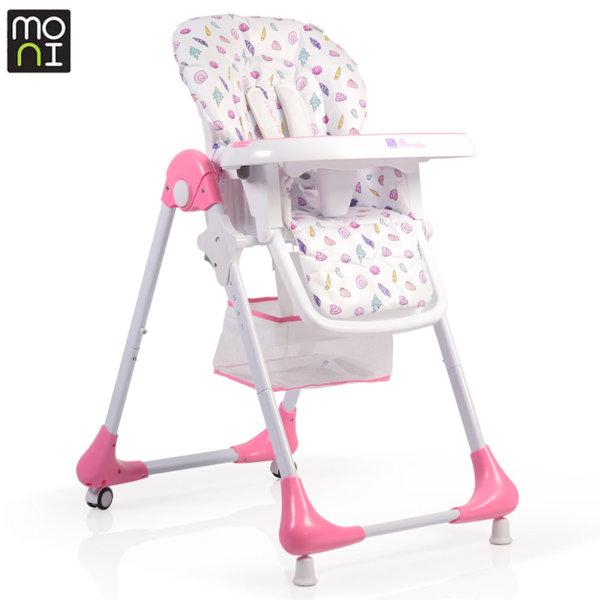 Moni Детски стол за хранене Avocado розов 106249
