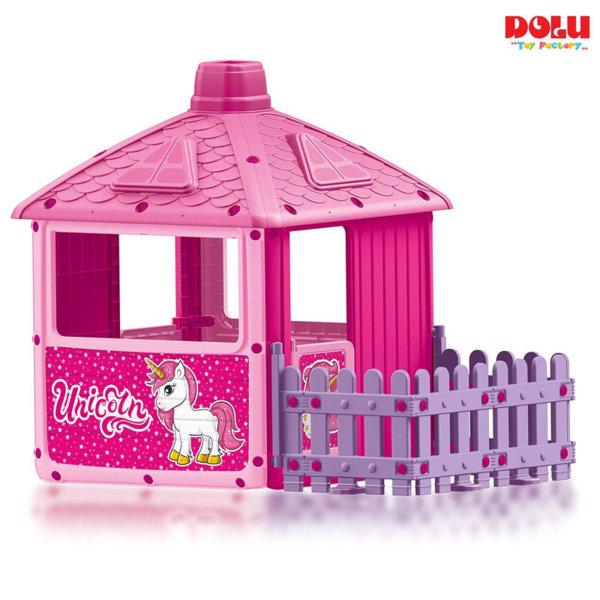 Dolu Детска градинска къща с ограда Unicorn 2511