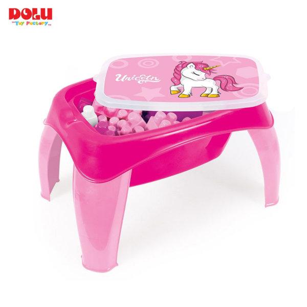 Dolu Детска маса с конструктор Unicorn 2597