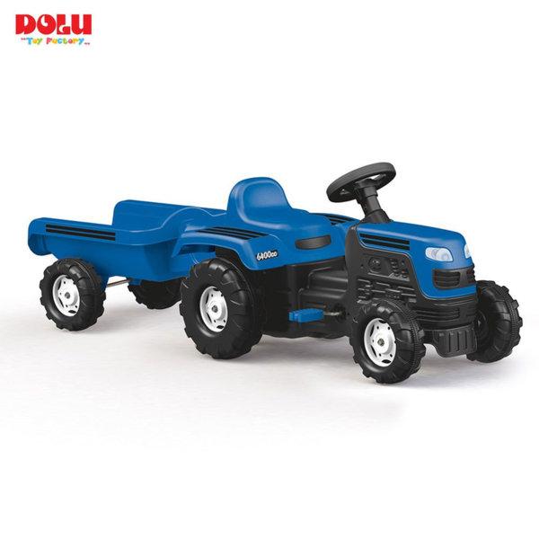 Dolu Детски трактор с ремарке с педали 8046