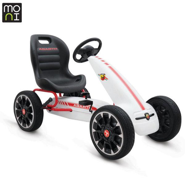 Moni Детска картинг кола Abarth 500 Assetto corse бяла 106417