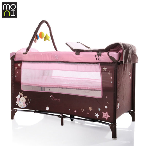 Moni Детска кошара Sleepy розова 106502