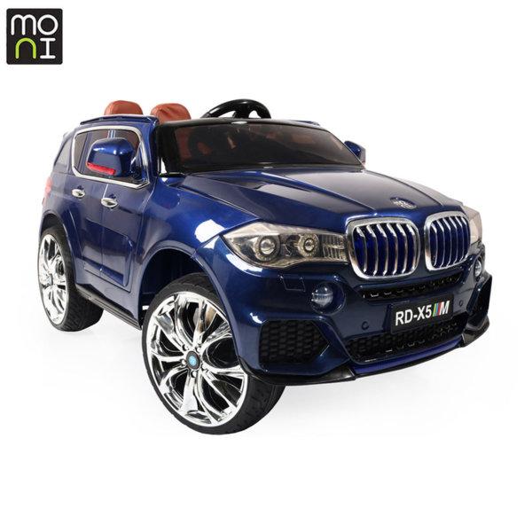 Moni Акумулаторен джип BMW M5X металик RD500 син 106788