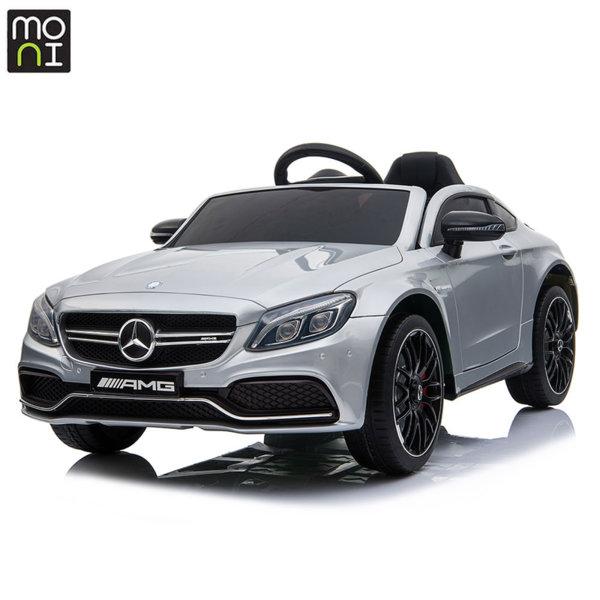 Moni Акумулаторна кола Mercedes C63s сребрист металик QY1588