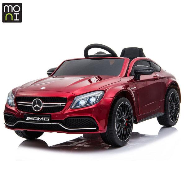 Moni Акумулаторна кола Mercedes C63s червен металик QY1588