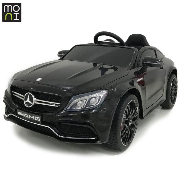 Moni Акумулаторна кола Mercedes C63s черен металик QY1588