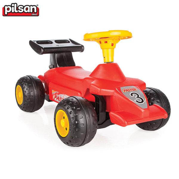 Pilsan Детска кола за бутане с крачета Формула 06808 червена